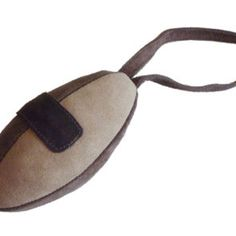 Suede Leather Rugby Ball Toy #dogtoys #rugby #dogsport #doglove #mypetshopin