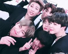 uploaded by @wyd_boi // #BTSBBMAs bts at the 2017 bbmas... they look so good but they're so cute esp jimin in this gif