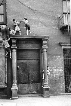 Helen Levitt......I adore her photos of kids in old New York.