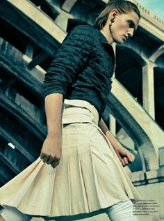 Men in Skirts    Jules Hamilton by Sebastian Kim | Highlander | Homotography