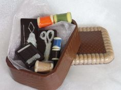 Handmade Belgian chocolate sewing kit by chocsUK on Etsy, £9.99