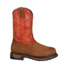 Women's Rocky 10in Roper Original Ride Steel Toe RKYW092in Boot Saffron /Ochre