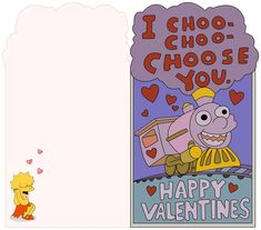 Waiting until the last minute for Valentines again? You're lucky I'm here. Or rather, you're lucky Deviant artistSimpsonixis here with this great, printable Valentine from one o…