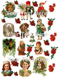 Vintage Christmas Collage Sheet #106