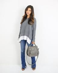 Move Along Lace Trim Sweater - ITEM OF THE DAY - Medium