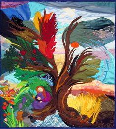 tree of life - Original Tapestry by Bracha Lavee