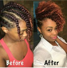 Twist out curls