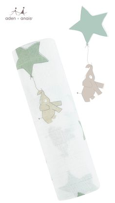 Our 6 in 1 cotton muslin elephant and green star balloon swaddle single pack is the perfect way to test and decide which swaddle use is your favorite. From nursing cover to tummy time blanket, mom and baby can't go wrong.