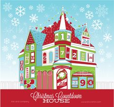Christmas Countdown House at Kiki and Company. Choose from 3 versions to do with your family this holiday season. #christmas