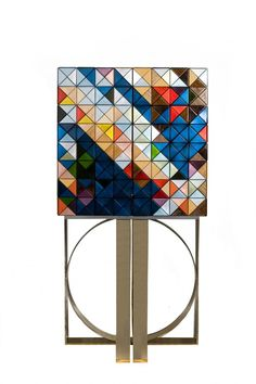Pixel cabinet by Boca do Lobo, #interiordesign #casegoodsideas moder home decor, interior design ideas, casegood inspirations. See more at http://www.brabbu.com/en/inspiration-and-ideas/category/trends/interior