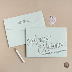Instant Download - Script - DIY Envelope Template