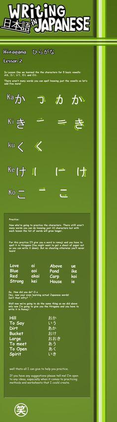"""Writing Japanese- Lesson 2 """"かきくけこ"""""""