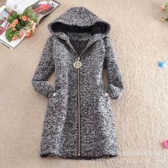 Venda quente 2015 outono inverno nova moda europeus e americanos estilo longo casaco de lã casaco de lã de moda com capuz C0087