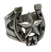 """Our traditional Sterling Silver Horseshoe embellished with a big Nautical Star is always lucky! Measures 3/4""""wide x 1"""" tall. Hand cast from the finest .925 sterling silver.  $200"""