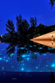 Every pool should come with starry fiber optic lighting – it's only fair.  Paresa Resort (Phuket, Thailand) - Jetsetter
