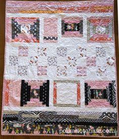 The Polkadot Chair: I love the colors of this quilt