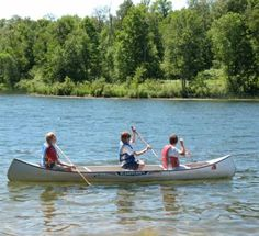 Summer Camp Activity - Canoeing on the lake!