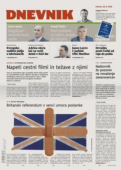 RIP Jo Cox (on the cover of Slovenia's 2nd biggest newspaper Dnevnik).