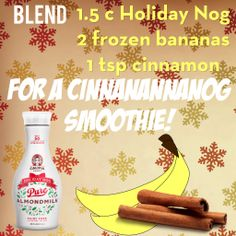 I don't want a lot for Christmas, there is just one thing I need, I don't care about the presents underneath the Christmas tree... All I want for Christmas is a Cinnanannanog smoothie!