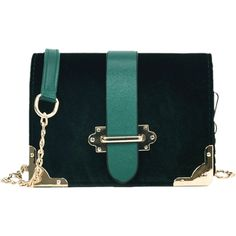 55413010c Green Metallic Chain Crossbody Bag (33 PEN) ❤ liked on Polyvore featuring  bags, handbags, shoulder bags, blue cross body purse, crossbody shoulder  bag, ...