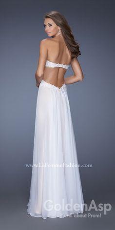 La Femme 19745 Prom Dress, from Golden Asp's selection of open back #prom dresses. Visit our #dress shop in Bensalem, Pennsylvania, or shop for open back dresses online at http://www.goldenaspprom.com/shop/dresses/style/open-back-prom-dresses #prom2015 #prom2k15