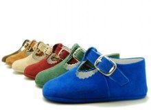 Color full T-strap Babi shoes.
