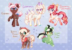 MLP Auction - Cake Ponies 1 (CLOSED) by tsurime on DeviantArt