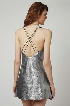 a4eb3b9aee Metallic Strappy Slip Dress By Topshop Finds - Dresses - Clothing