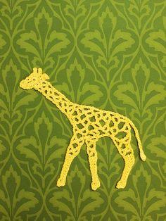 crochet a sweet giraffe, in Japanese with diagram.....