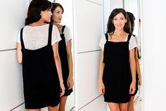 miscelánea diy: Cómo hacer el peto más fácil del mundo | DIY PETO - OVEROL - PICHI Pinafore Dress, Refashion, Diy Clothes, Thrifting, Crochet, Costumes, My Style, Outfits, Dresses