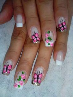 Cute Nail Art, Beautiful Nail Art, Cute Nails, Pretty Nails, Pedicure Designs, Nail Art Designs, Nail Swag, Spring Nails, Summer Nails