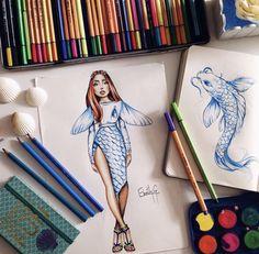 Fashion Drawing Dresses, Fashion Illustration Dresses, Fashion Illustration Sketches, Fashion Sketches, Dress Design Sketches, Fashion Design Sketchbook, Fashion Design Drawings, Vestido Dress, Fashion Design Template