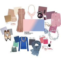 Cute examples of what to pair the 2016 Pantone colors of the year with #rosequartz #serenity
