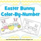 Enjoy this Easter bunny color by number freebie!