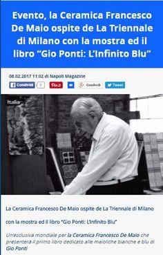 """La Ceramica Francesco De Maio ospite de La Triennale di Milano con la mostra ed il libro """"Gio Ponti: L'Infinito Blu"""""""