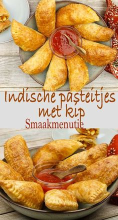 Indische pasteitjes met kipYou can find indische hapjes and more on our website. Lunch Snacks, Lunch Recipes, Gourmet Recipes, Cooking Recipes, Healthy Recipes, Cooking Tips, Tapas, Indian Food Recipes, Asian Recipes