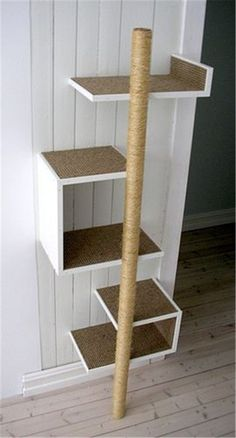 Simple cat tree you can do it yourself #DIYcattoysforhome #CatFurniture