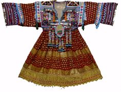 Vintage afghanistan ethnic traditional dress costume Nomaden afghan kleid No-2 in Antiques, Asian/Oriental Antiques, Islamic/Middle Eastern   eBay