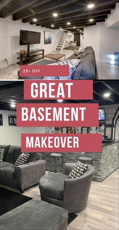 Basement Decor ! Tips For Styling Your Dream Basement #basementdesign #basementdecor Basement Decorating, Basement Makeover, Basements, Decoration, Diy Home Decor, Design Ideas, Decor Ideas, Elegant, Amazing