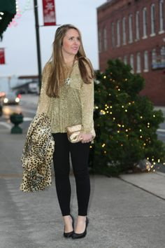 Casual New Years Eve * Sequins and Sparkle from Katie at Pearls & Twirls #stcstylesquad