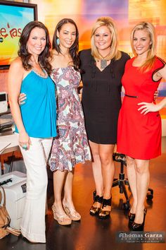 LeeAnne Locken, Dawn Belcher Neufeld, Shay Geyer and Amy Vanderoef at WFFA Studios in Victory Park
