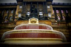Fountain outside the National Museum in #Prague