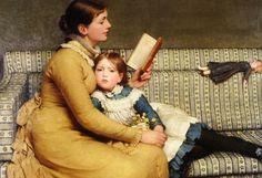 """Alice in Wonderland"" (1879) George Dunlop Leslie"