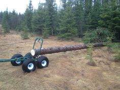 """More product will be available June Consider placing an advance order now to ensure you will receive a trailer in June. The """"SWISS ARMY KNIFE"""" of ATV work trailers MADE IN CANADA Quad Trailer, Log Trailer, Trailer Diy, Trailer Plans, Utility Trailer, Atv Trailers, Dump Trailers, Tractor Accessories, Atv Accessories"""