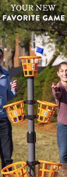 Take this portable game to the beach, camping, tailgating, or the backyard. It sets up fast and the rules are simple�toss bean bags into the baskets to score points. It makes the perfect yard game to play with a group.