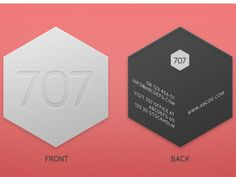 Visitkort - hexagon or cube shaped? Eye catching #businesscard