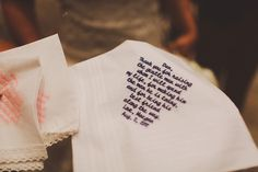 Gift For Dad On Wedding Day Handkerchief : Wedding Day handkerchief for Dad Ideas para regalar! #diy #gifts # ...