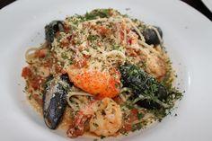 Ballard's Seafood Pasta - Lobster, Shrimp, Mussels, Fresh Tomato Sauce and Organic Linguine