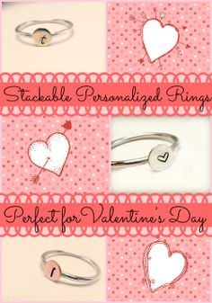 Need the perfect Valentine's Day #gift?  Check out Little Hill Jewelry on Etsy and find customizable. stackable rings to give her something that speaks right to her heart!