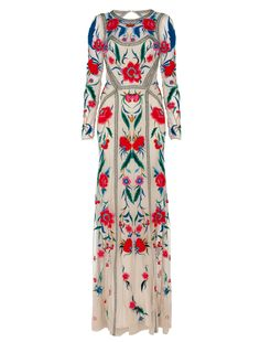 Long Eliah Flower Show Dress by Temperley London. Alice Temperley wore this on Project Runway....love it!